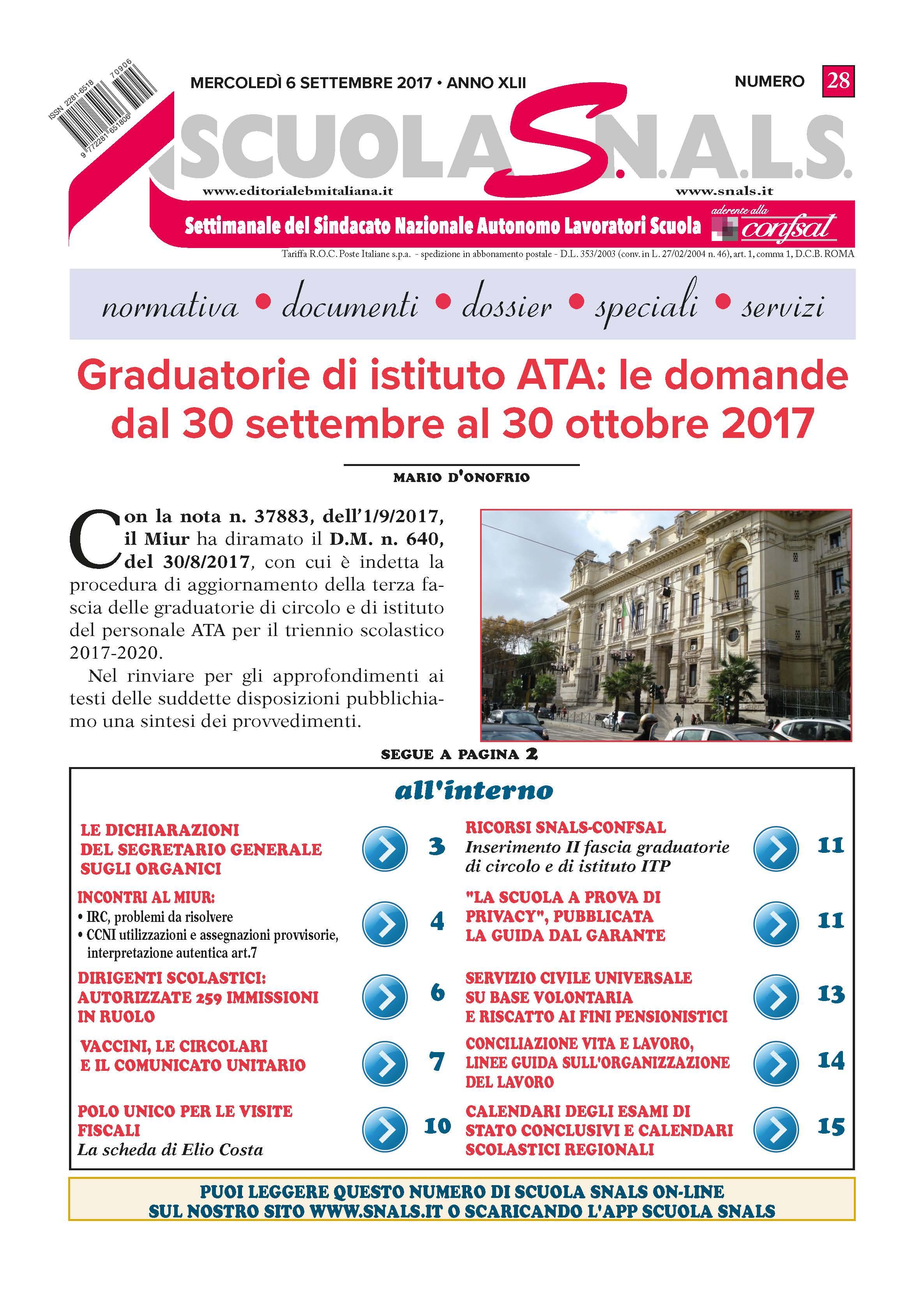 Graduatoria III fascia ATA modelli editabili in PDF