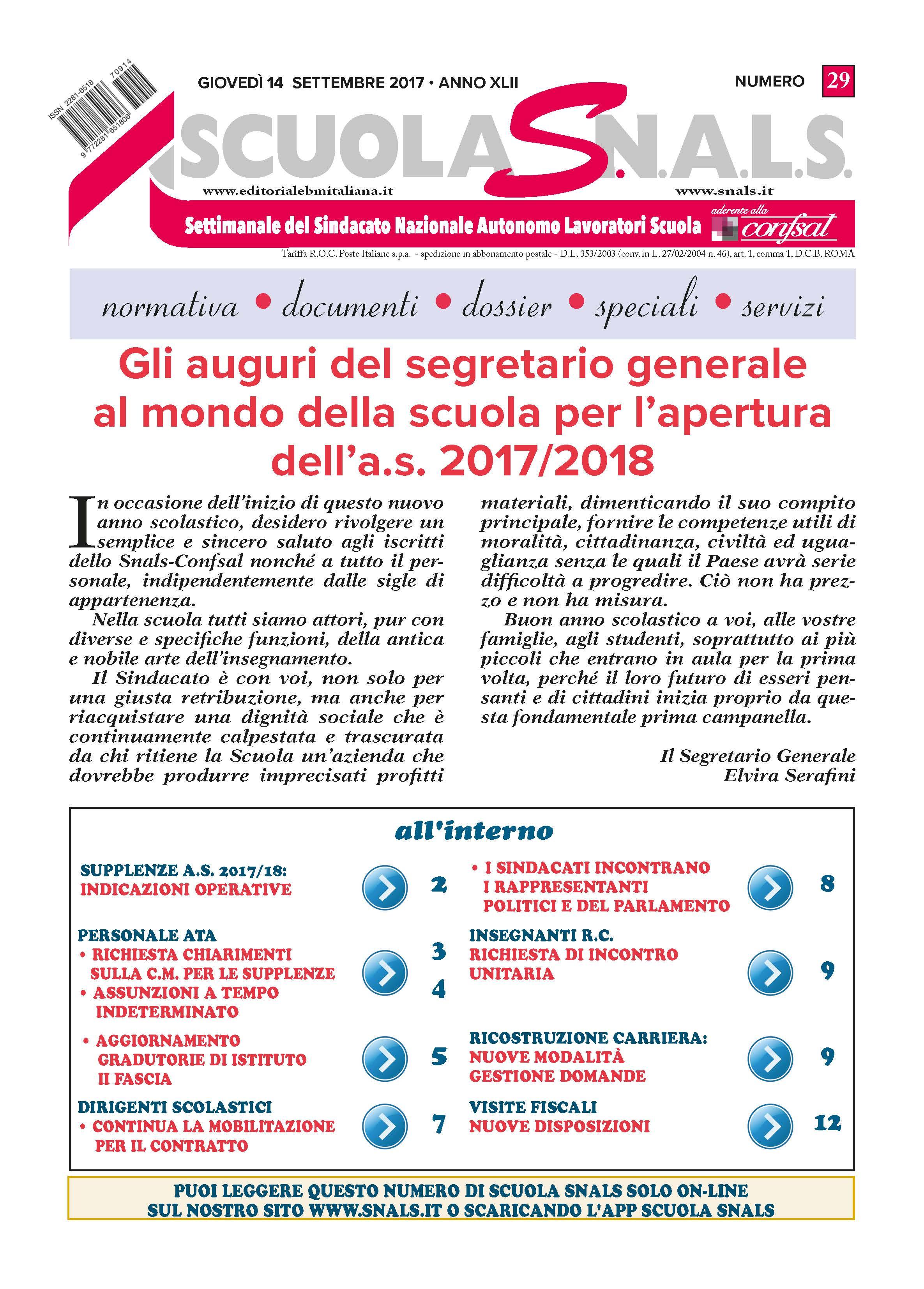 Gli auguri del segretario generale al mondo della scuola per l apertura dell a s 2017 2018